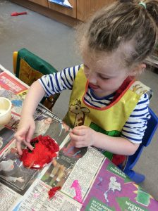Getting messy at our lovely Preschool
