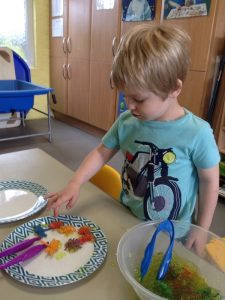 Learning about bugs at pre-school