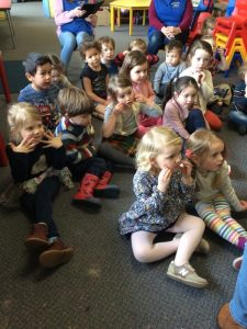 Listening to a Story at Preschool